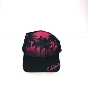 Robin Ruth California Skyline Cap Hot Pink Black